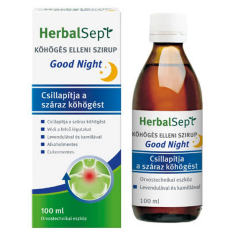 Herbalsept köhögés elleni szirup good night 100ml