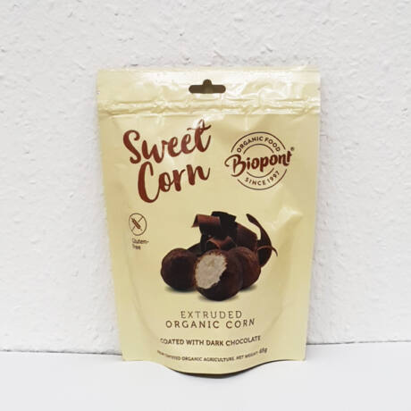 Biopont Bio étcsokoládéval bevont extrudált kukorica (65g)