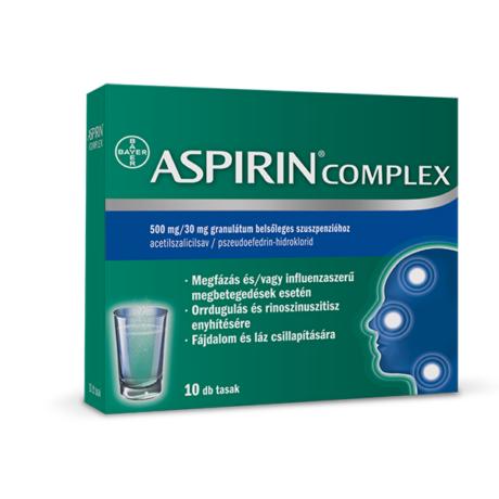 Aspirin Komplex 500 mg/30 mg granulát.bels.szuszp. (10x)