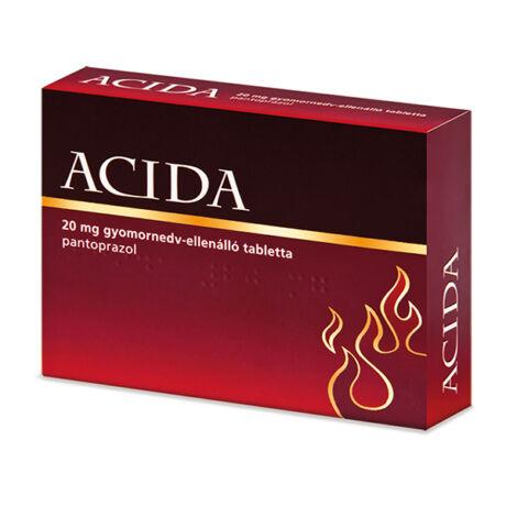 Acida 20 mg gyomornedv-ellenálló tabletta (14x (AL/PVC-PVDC-PA/AL))
