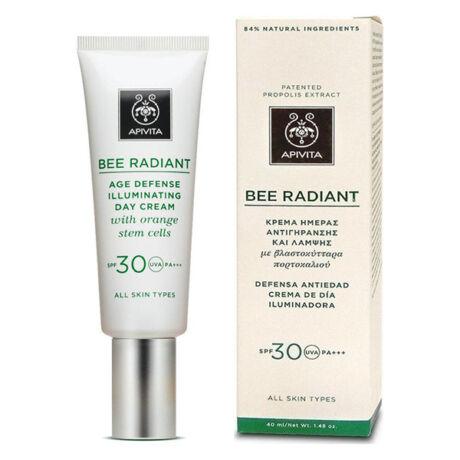 Apivita Bee Radiant bőrfiatalító arckrém SPF30 40ml