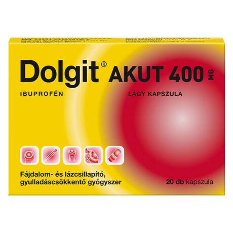 Dolgit Akut 400 mg lágy kapszula (20x)