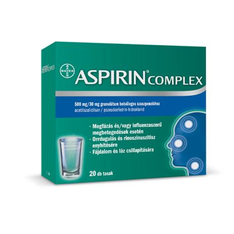 Aspirin Komplex 500 mg/30 mg granulát.bels.szuszp. (20x)