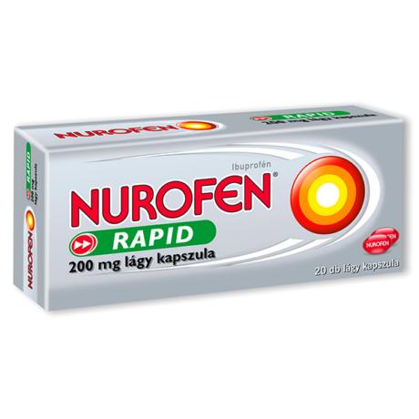 Nurofen Rapid 200 mg lágy kapszula 20x