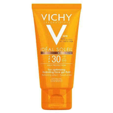 Vichy Idéal Soleil napozó gél arcra FF30 bronz (50ml)