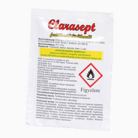 Clarasept fertőtlenítő törlőkendő 1x