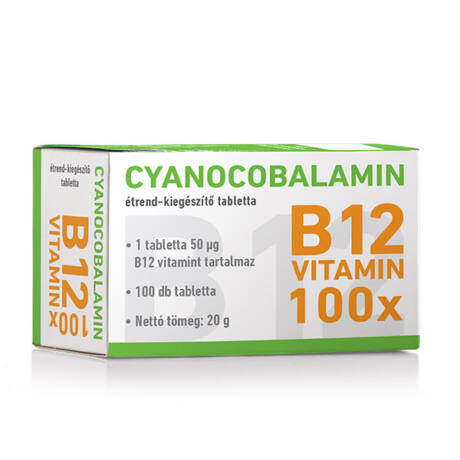 Cyano Cyanocobalamin - B12-vitamin tabletta 50x