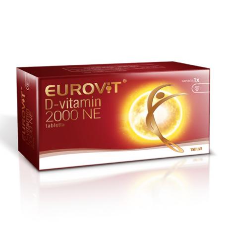 Eurovit D-vitamin 2000NE tabletta 60x