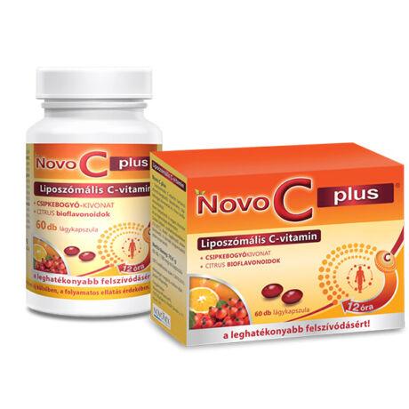 Novo C Plus Liposzómális C - Vitamin kapszula 120