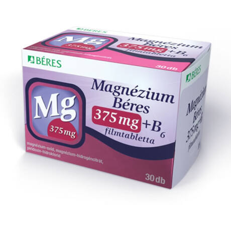 Magnézium Béres 375mg+ B6 filmtabletta 30x