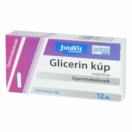 Jutavit Glicerin végbélkúp gyermekeknek 12x