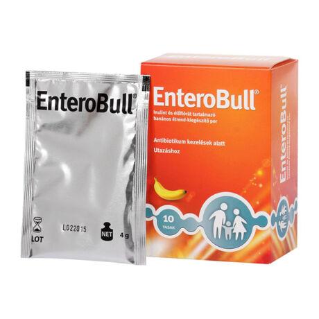 EnteroBull inulint-élőflórát tartalmazó banán ízű étrendkiegészítő por 10x