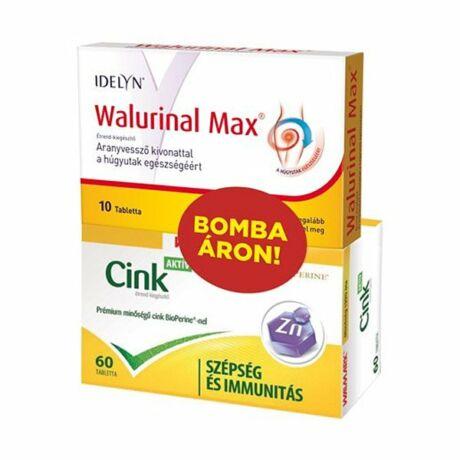 Walurinal Max tabletta Cink Aktív tablettaa 10x+60x
