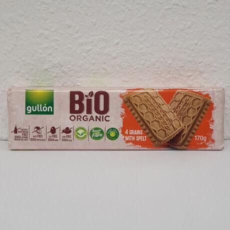 Gullon Bio 4 gabonás keksz laktózmentes 170g