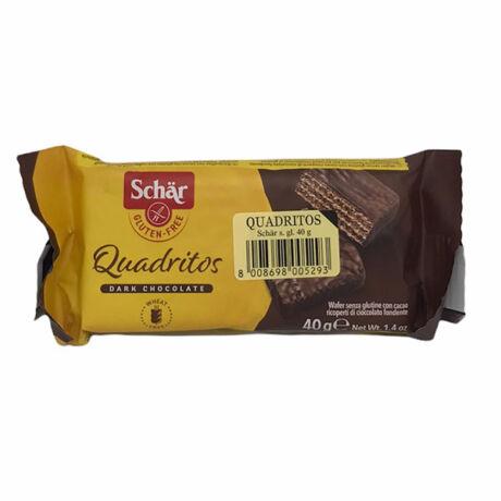 Schär gluténmentes Quadritos kakaós ostya 40g