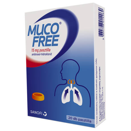 Mucofree 15 mg pasztilla 20x