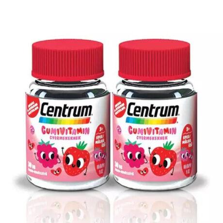 Centrum Gumivitamin Gyermeknek - eper-málna ízű 30x+30x