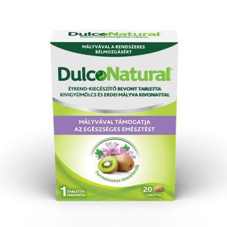 DulcoNatural tabletta kiwi/erdei mályva kivonattal 20x
