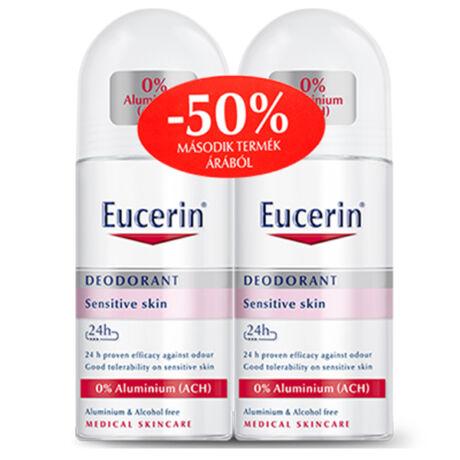 Eucerin Golyós dezodor érzékeny bőrre - alum. mentes deo duo 2x50ml