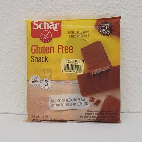 Schar gluténmentes snack csokoládé bevonós mogyorós ostya 105g