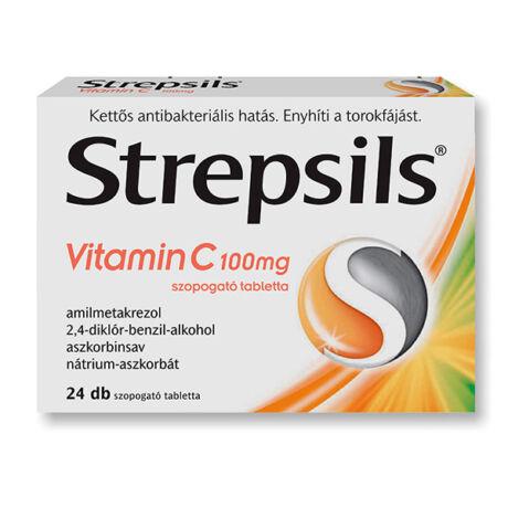 Strepsils Vitamin C 100 mg szopogató tabletta