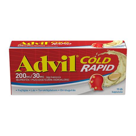 Advil Cold Rapid 200 mg/30 mg kapszula 10x