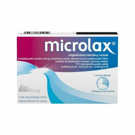 Microlax végbéloldat (4x5ml tubusban)
