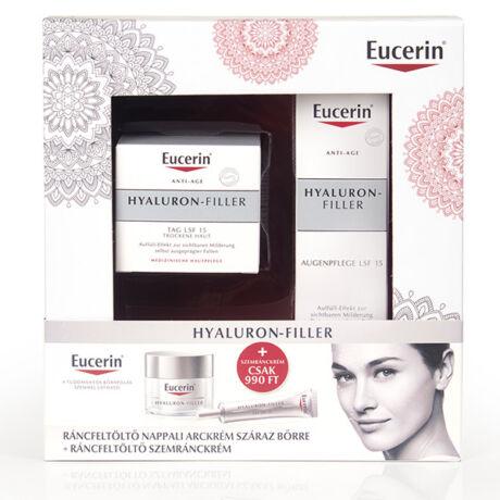 Eucerin Hyaluron Filler csomag nappali krém száraz bőrre + szemránckrém 50+15ml