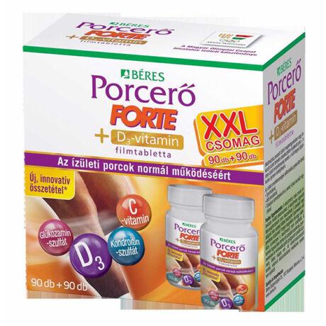 Béres Porcerő FORTE +D3-vitamin filmtabletta 90+90db