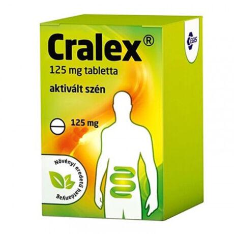 Cralex 125 mg tabletta (Széntabletta) 60x