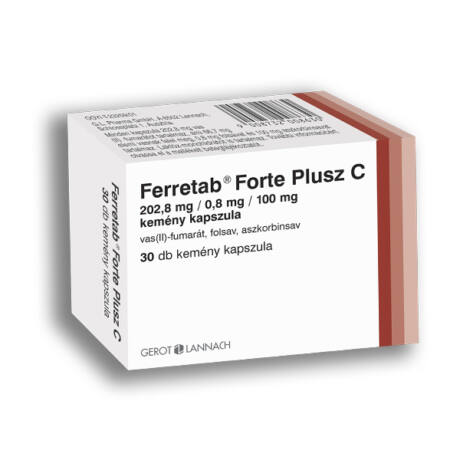 Ferretab Forte Plusz C-vitamin kapszula 30x