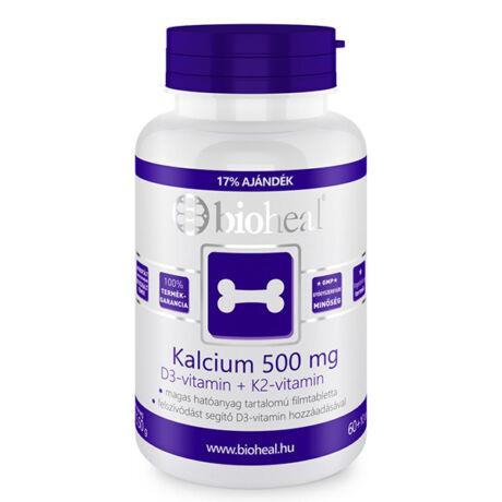 Bioheal Kalcium 500mg+D3- vitamin+K2 -vitamin 70x