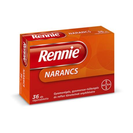 Rennie rágótabletta Narancs 36x