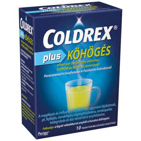 Coldrex Plus köhögés elleni por belsőleges oldathoz 10x
