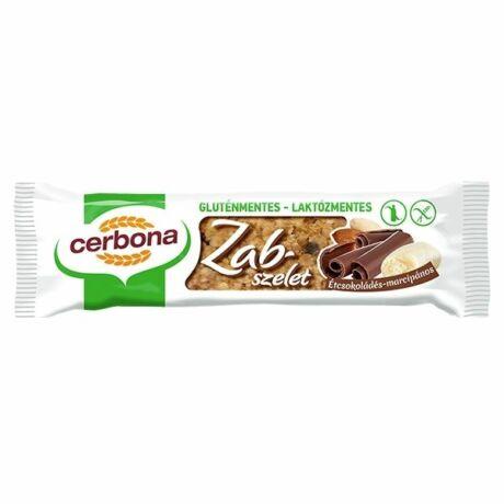 Cerbona gluténmentes étcsokoládés-marcipános zabszelet (40g)