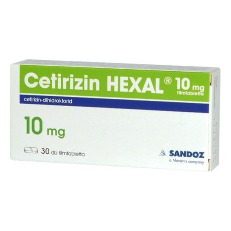 Cetirizin HEXAL 10 mg filmtabletta 30x