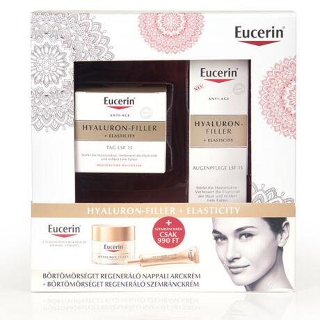 Eucerin Hyaluron-Filler + Elasticity regeneráló arckrém + szemránckrém