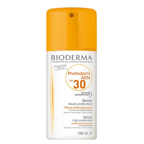 Bioderma Photoderm AKN SPF30/UVA13 spray aknés, zsíros, problémás bőrre 100 ml