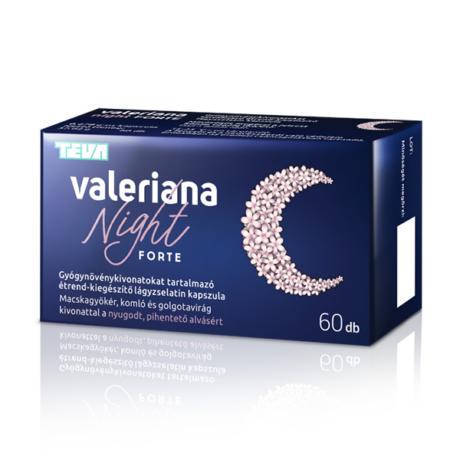 Valeriana Night Gyógynövénykivonat Forte kapszula 30x