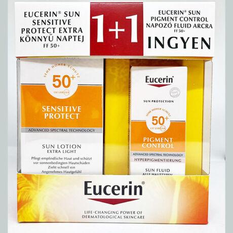 Eucerin Sun Pigment Control arckrém+naptej (50ml+150ml)