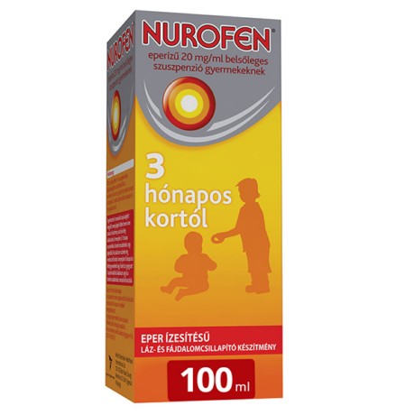 NUROFEN eperízű 20 mg/ml belsőleges szuszpenzió gyermekeknek 100ml