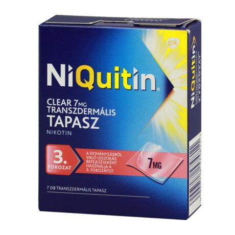 Niquitin Clear 7mg transzdermális tapasz 7x