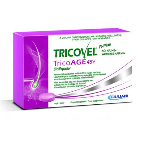 Tricovel Tricoage 45+ Bioequolo tabletta 30x