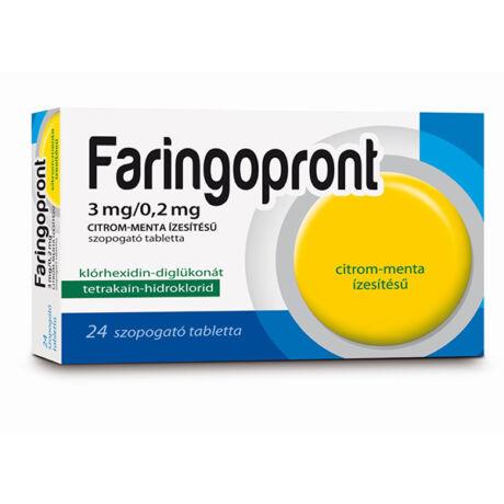 Faringopront 3mg/0,2mg citrom-menta ízű szop.tabl. 24x