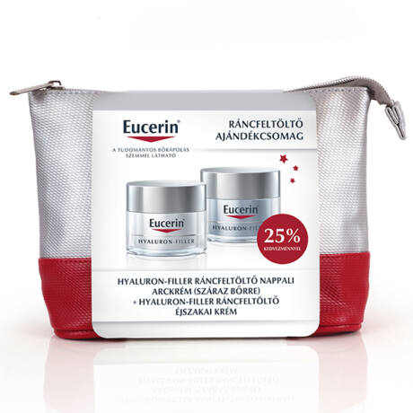 Eucerin Hyaluron-Filler csomag száraz bőrre +éjszakai krém (50ml+50ml)
