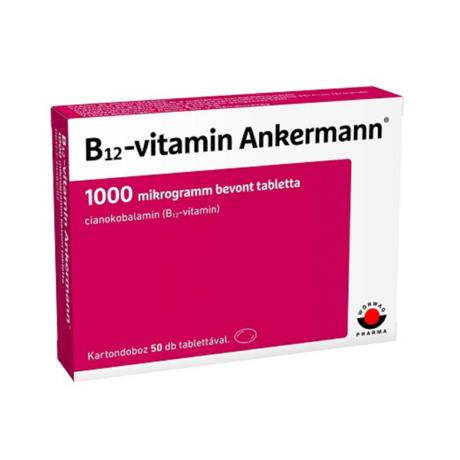 B12-vitamin Ankermann 1000 mcg bevont tabletta 50x