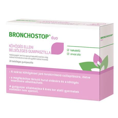 Bronchostop Duo gumipasztilla köhögés ellen 20x