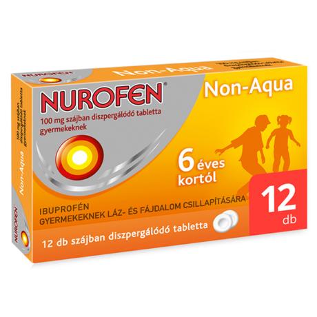 Nurofen Non-Aqua 100 mg szájban diszpergálódó tabletta gyermekeknek 12x