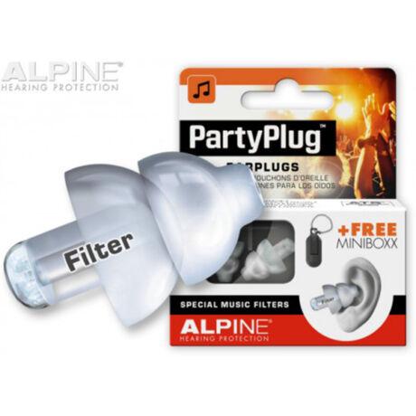 Alpine PartyPlug Fesztivál, koncert, buli füldugó