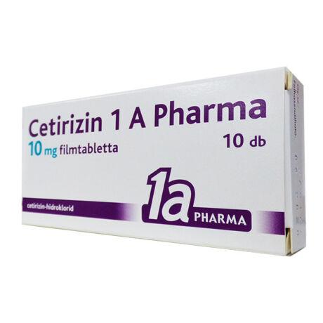 Cetirizin 1a Pharma 10 mg filmtabletta 30x
